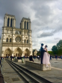 Always interesting people watching to be had at Notre Dame