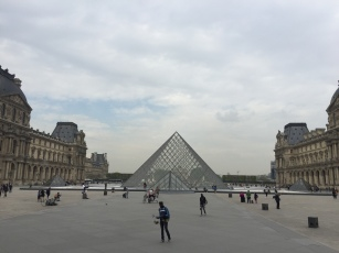 The Louvre...it's closed on Tuesdays so it was much more peaceful than usual