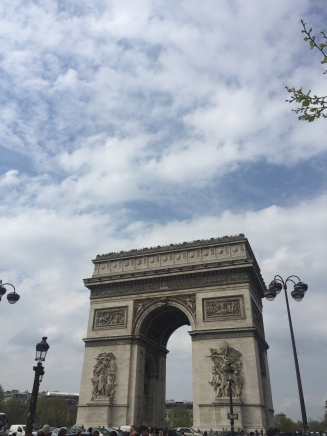 I ended up at the Arc de Triomphe