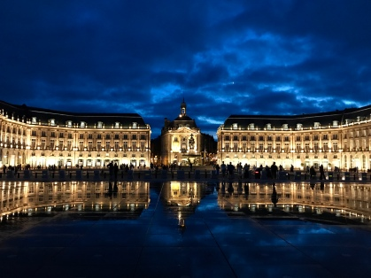 Place de la Bourse in the water mirror