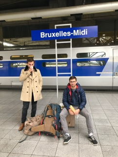 The boys not feeling too excited about Brussels