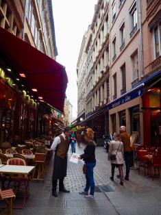 The old town- full of restaurants!